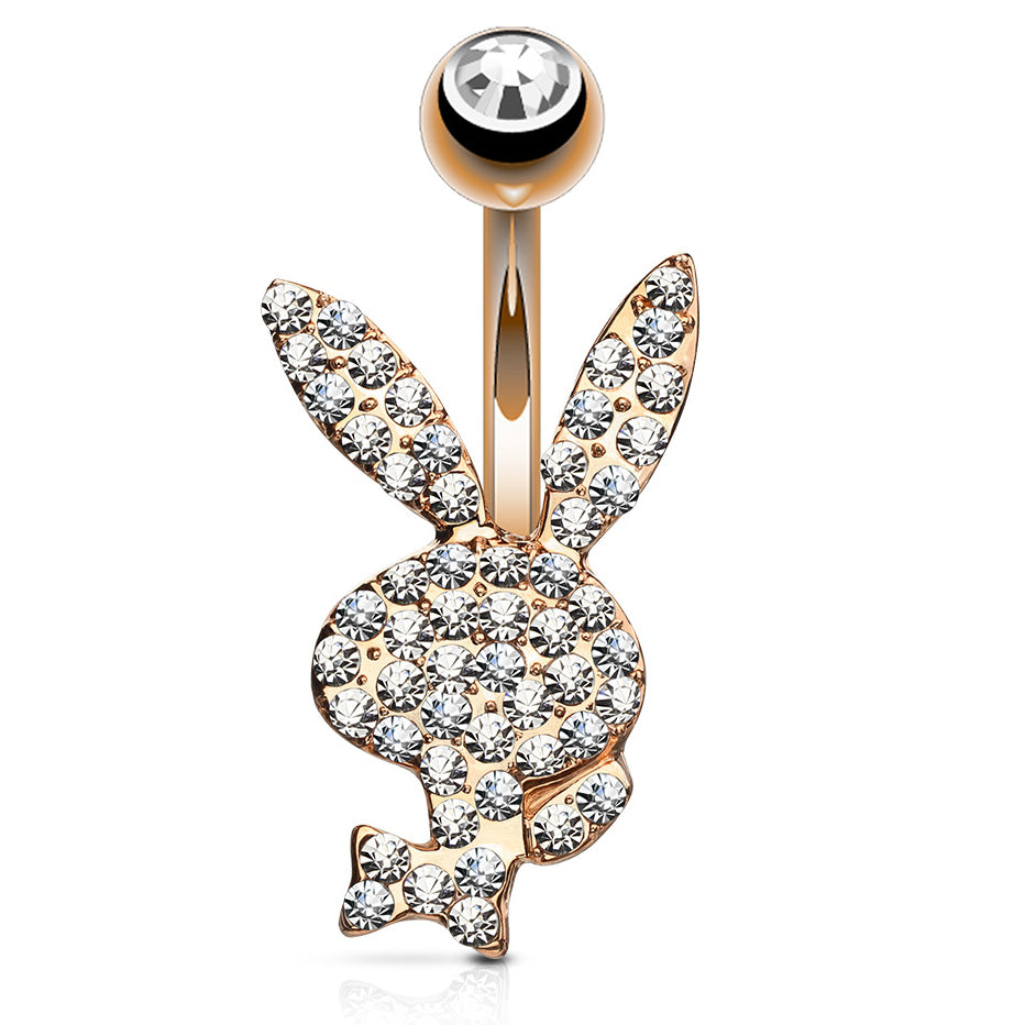 Ideal Official ©Playboy Motley Belly Bars. Rose Gold Playboy Bunny Bar  ZM79