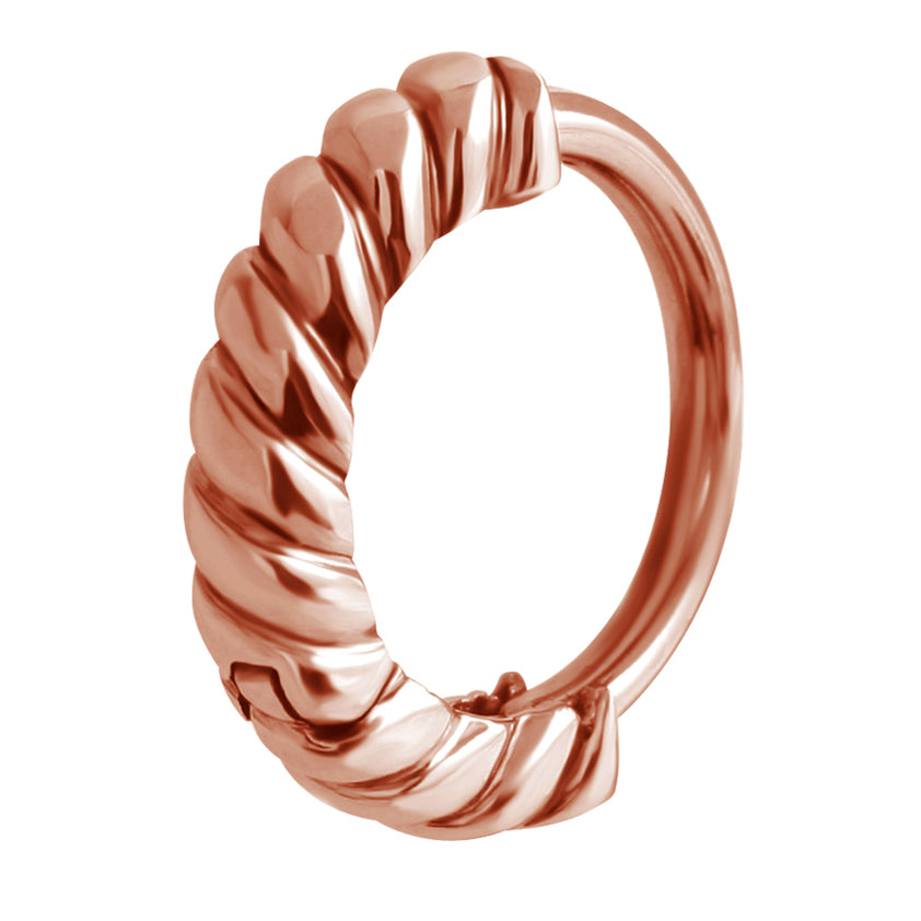 Bargain Rope Belly Huggie in Rose Gold - Budget Belly Huggy. Navel Rings Australia.