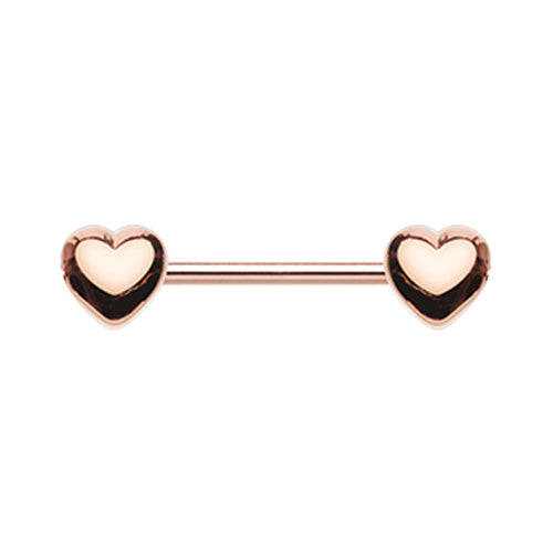 Classic Heart Nipple Body Jewellery in Rose Gold - Nipple Ring. Navel Rings Australia.