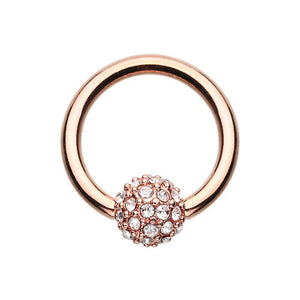 Rose Gold Motley™ Captive Belly Ring - Captive Belly Ring. Navel Rings Australia.
