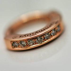 TummyToys® Rose Gold Diamond Pave Sleeper - TummyToys® Patented Clasp. Navel Rings Australia.