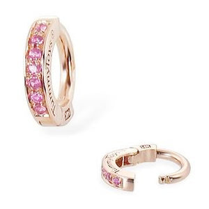 TummyToys® Rose Gold Pink Sapphire Sleeper - TummyToys® Patented Clasp. Navel Rings Australia.