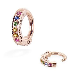TummyToys® 14K Rose Gold Rainbow Sapphire Belly Button Ring - TummyToys® Patented Clasp. Navel Rings Australia.