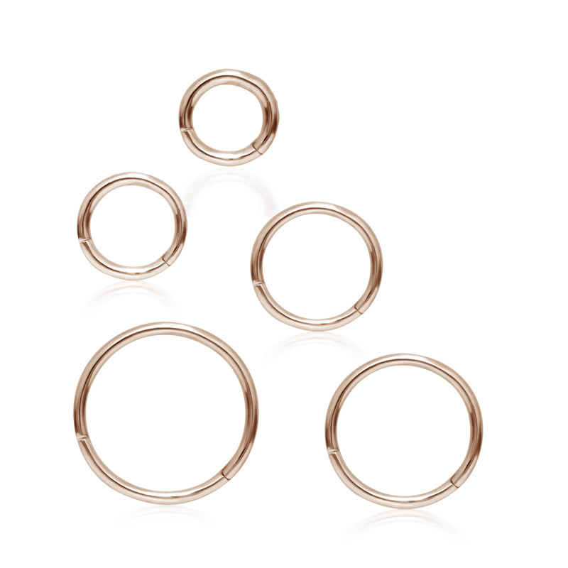 Plain Hoop Earring by Maria Tash in Rose Gold - Earring. Navel Rings Australia.