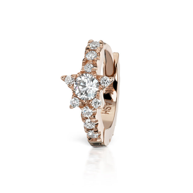 Diamond Star Eternity Earring by Maria Tash in 18K Rose Gold - Earring. Navel Rings Australia.