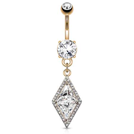 Dangling Belly Ring. Buy Belly Rings. Diamonds Forever Belly Drop in Rose Gold