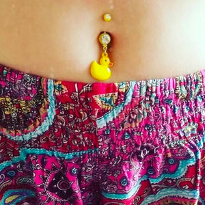 My Rub a Dub Ducky Navel Ring - Dangling Belly Ring. Navel Rings Australia.