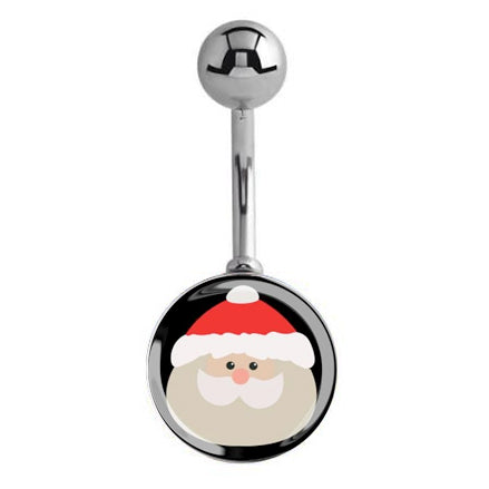 HUGE Santa Claus Belly Rings - Basic Curved Barbell. Navel Rings Australia.