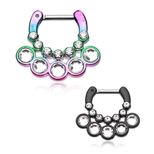 Adelaida Gem Septum Clicker - Septum. Navel Rings Australia.