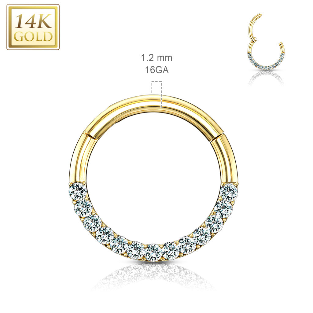 Septum. Cute Belly Rings. Motley™ Septum & Daith Hoop in 14K Gold