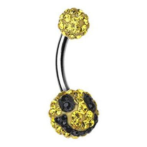 Motley™ Smiley Face Belly Bar - Basic Curved Barbell. Navel Rings Australia.