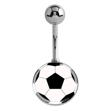Basic Curved Barbell. Navel Rings Australia. Soccer Ball Belly Button Ring