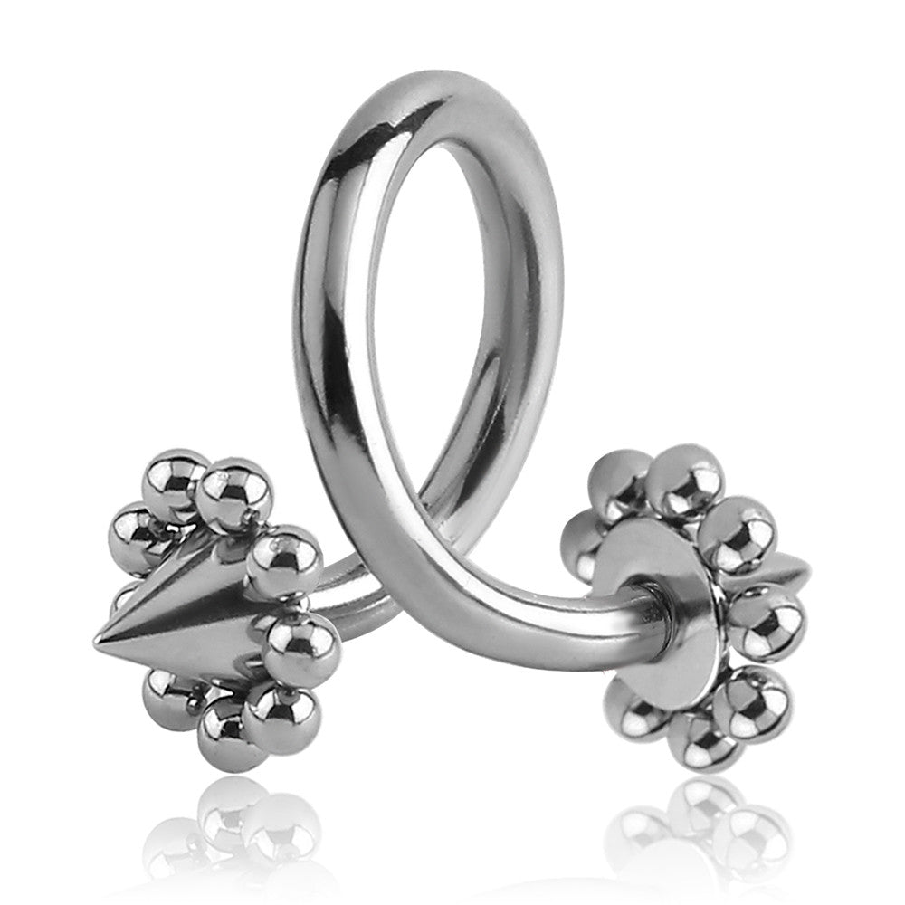 Spiked Flower Spiral Belly Bar - Spiral Twister Twistie. Navel Rings Australia.