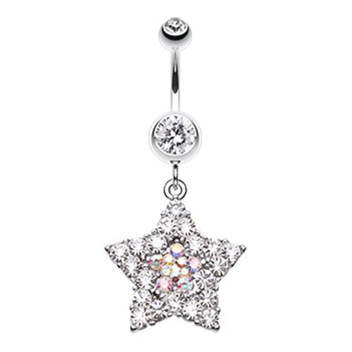 Dangling Belly Ring. Navel Rings Australia. Star Dust Amongst Us Belly Bar