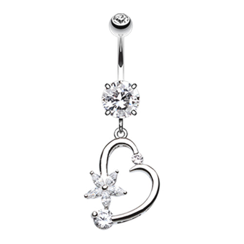 Dangling Belly Ring. Navel Rings Australia. Star Struck Lovers Belly Bar