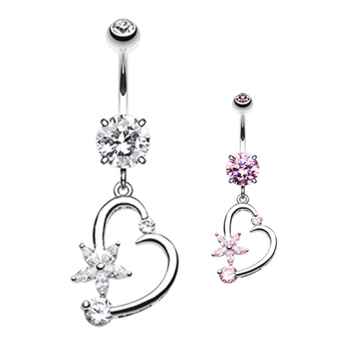 Star Struck Lovers Belly Bar - Dangling Belly Ring. Navel Rings Australia.