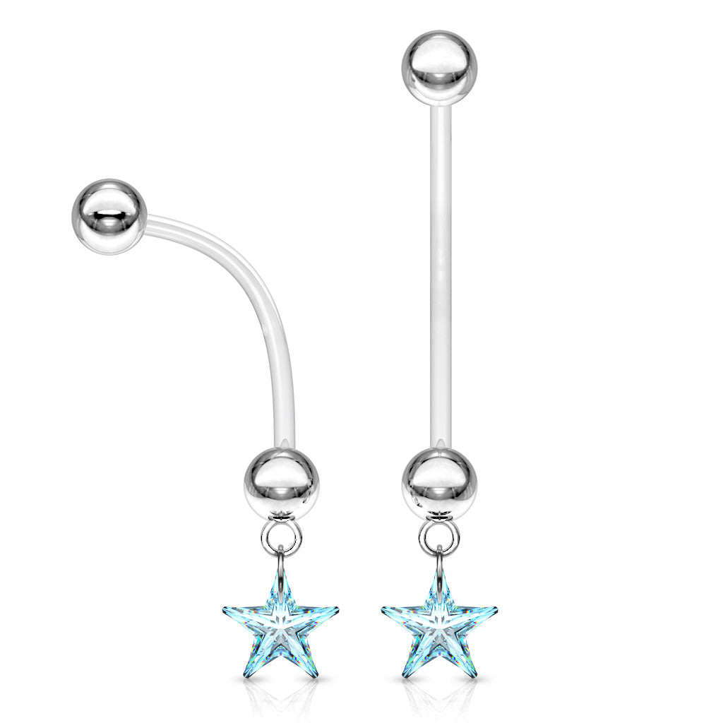 Maternity Belly Ring. Belly Rings Australia. A Star is Born Maternity Belly Bar