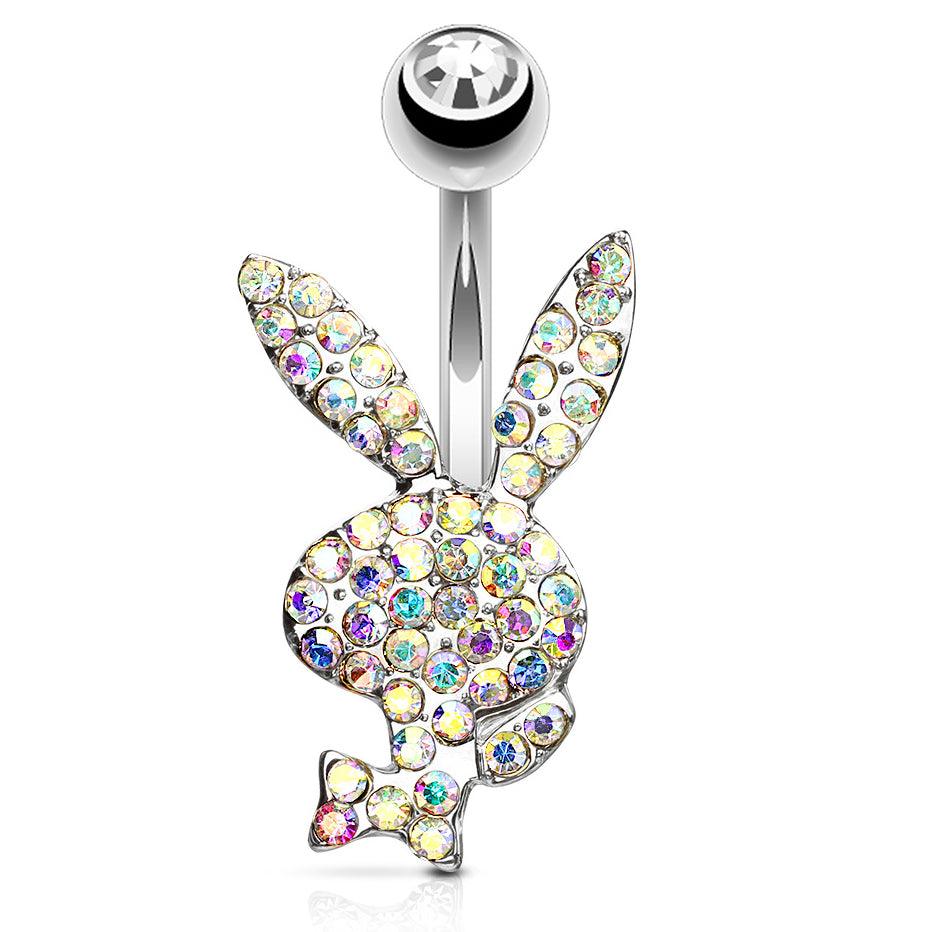 Fixed (non-dangle) Belly Bar. Quality Belly Rings. Official ©Playboy Motley Belly Rings