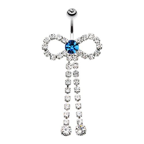 The Edinburgh Party Bow Belly Ring - Dangling Belly Ring. Navel Rings Australia.