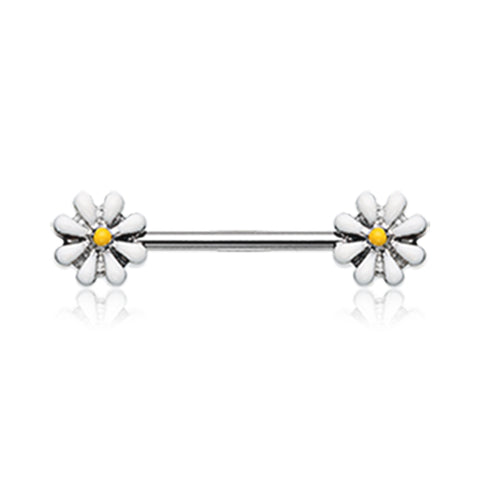 Nipple Ring. Belly Bars Australia. Daisy Field Nipple Barbell Ring