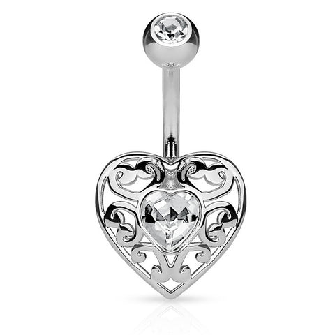 Fixed (non-dangle) Belly Bar. Belly Bars Australia. Bella Love Belly Bar