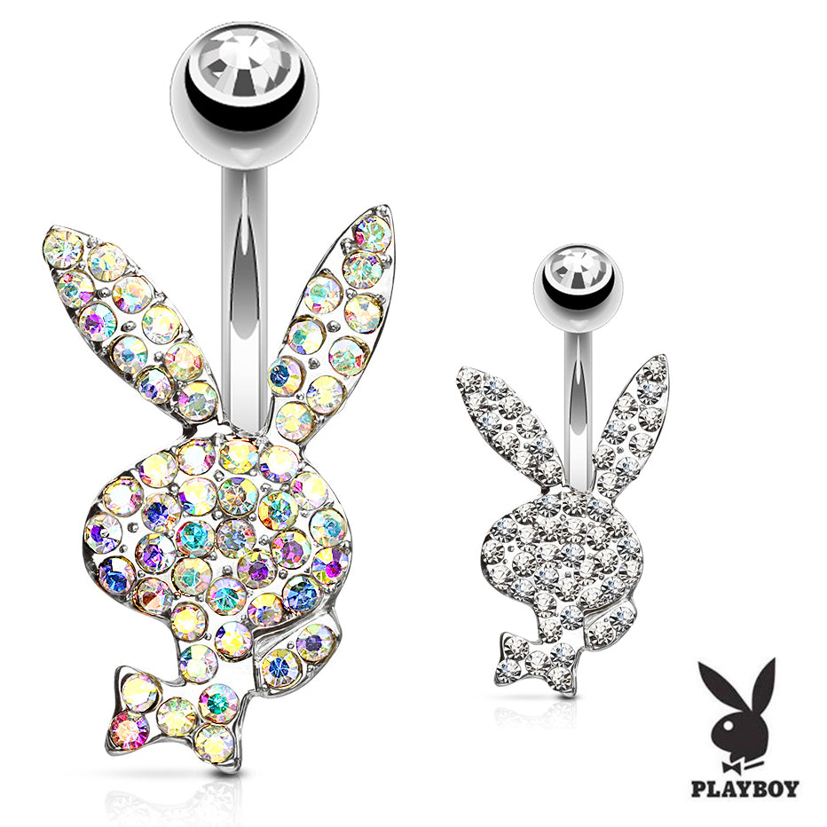 Official ©Playboy Motley Belly Rings - Fixed (non-dangle) Belly Bar. Navel Rings Australia.