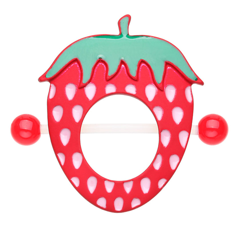 Sweet Strawberry Flex Nipple Shield Ring - Nipple Ring. Navel Rings Australia.