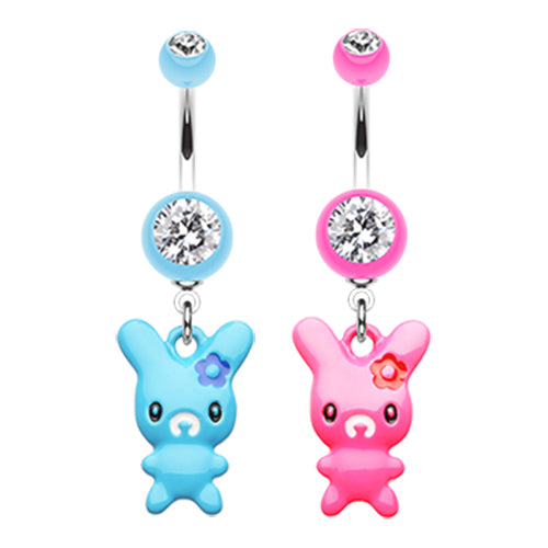 Lola Bunny Belly Ring - Dangling Belly Ring. Navel Rings Australia.