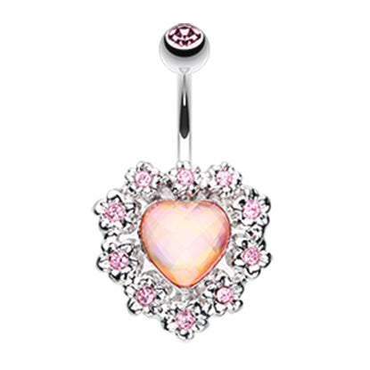 Fixed (non-dangle) Belly Bar. Belly Rings Australia. My Sweet Heart Belly Ring