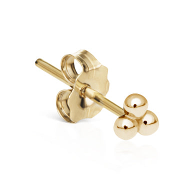 Ball Trinity Earring by Maria Tash in 14K Gold. Butterfly Stud. - Earring. Navel Rings Australia.