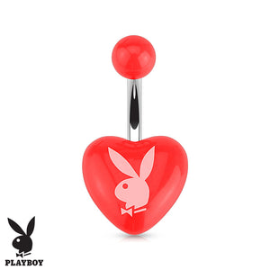 Official Playboy Bunny Belly Piercing Ring - Fixed (non-dangle) Belly Bar. Navel Rings Australia.