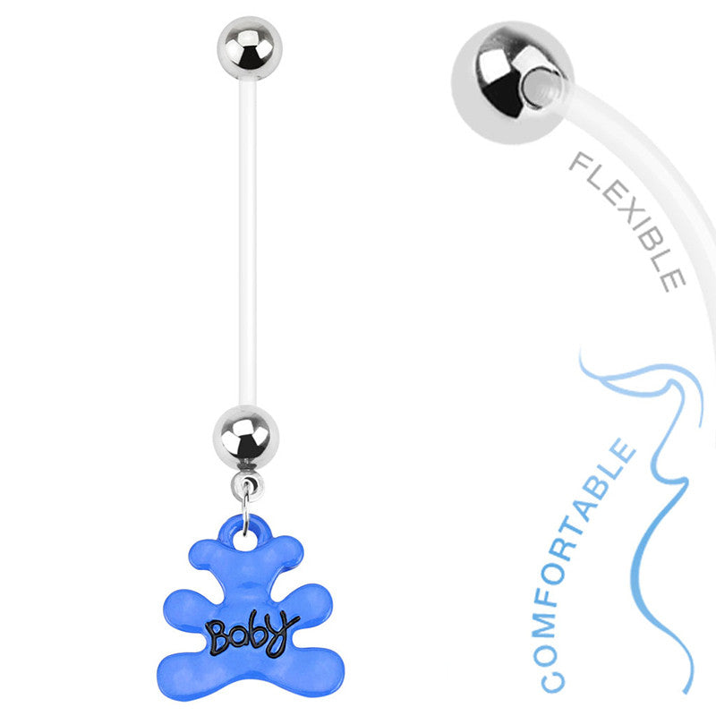 Maternity Belly Ring. Buy Belly Rings. Teddy Bear Pregnancy Belly Piercing Ring