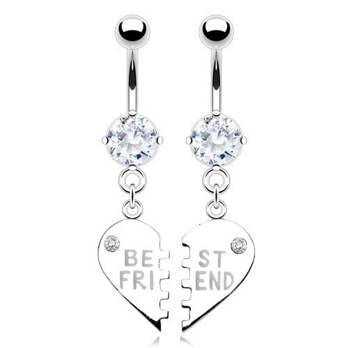 Dangling Belly Ring. Navel Rings Australia. My BFF Best Friend Belly Ring Set