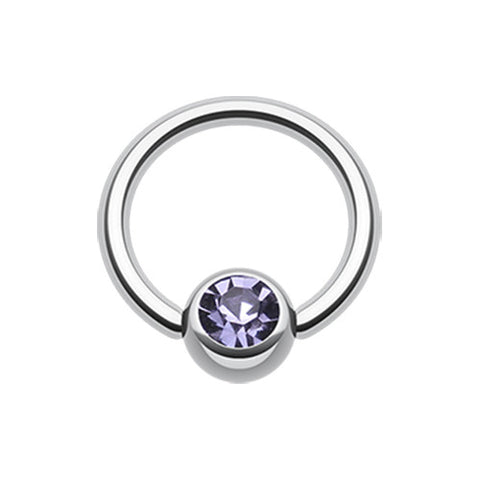 Tanzanite Classic Gem Stone Captive Belly Ring