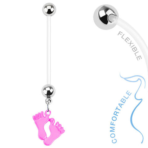 Pitter Patter Pregnancy Belly Button Bar - Maternity Belly Ring. Navel Rings Australia.