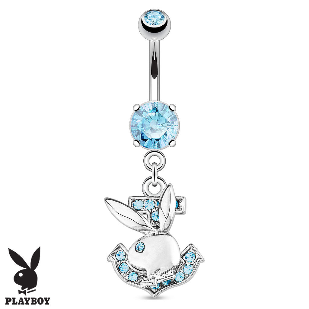 Dangling Belly Ring. Belly Rings Australia. Official Playboy Bunny Anchor Belly Button Bar