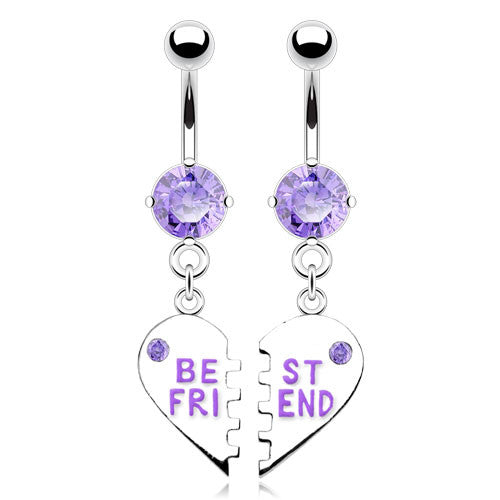 My BFF Best Friend Belly Piercing Ring - Dangling Belly Ring. Navel Rings Australia.
