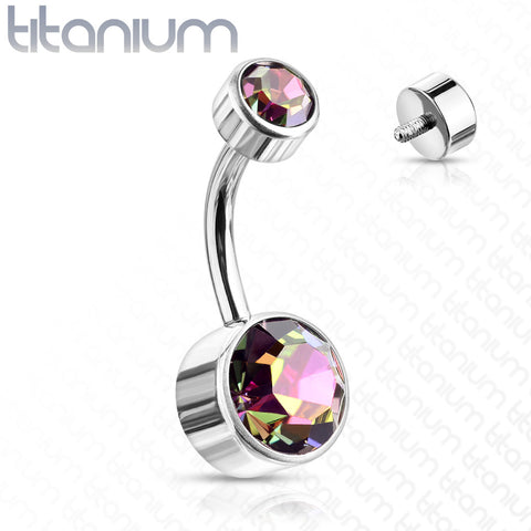 Titanium Classique Belly Bars - Basic Curved Barbell. Navel Rings Australia.