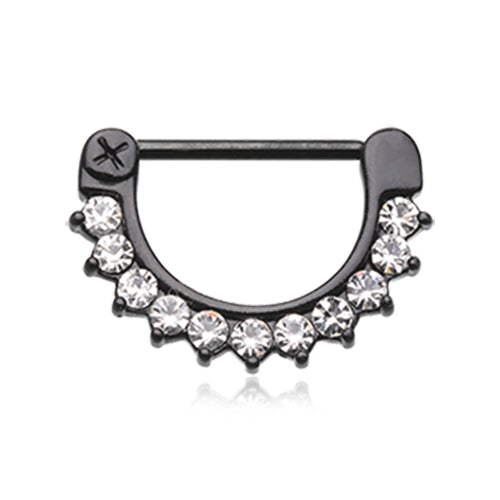 Nipple Ring. Navel Rings Australia. Titanium Glitz Nipple Clicker