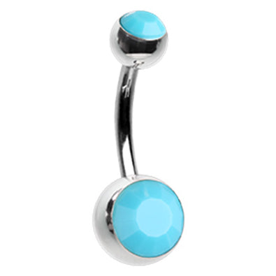Turquoise Classique Belly Rings - Basic Curved Barbell. Navel Rings Australia.