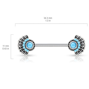 Antieke Turquoise Nipple Ring Jewellery - Nipple Ring. Navel Rings Australia.