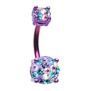 Motleys™ Unicorn Parade Belly Bar - Basic Curved Barbell. Navel Rings Australia.
