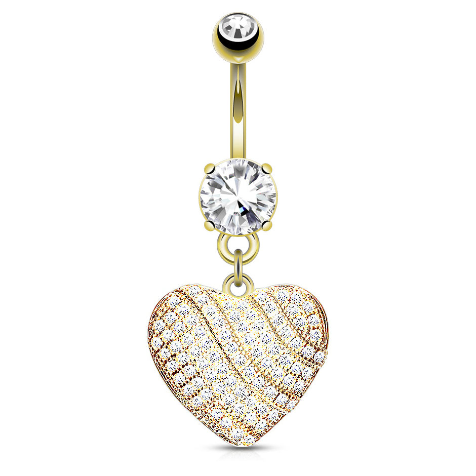 Venus Love Story Belly Dangle - Dangling Belly Ring. Navel Rings Australia.