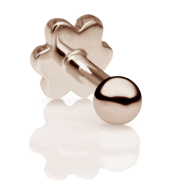 2mm Ball Earring by Maria Tash in 14K Rose Gold. Flat Stud. - Earring. Navel Rings Australia.
