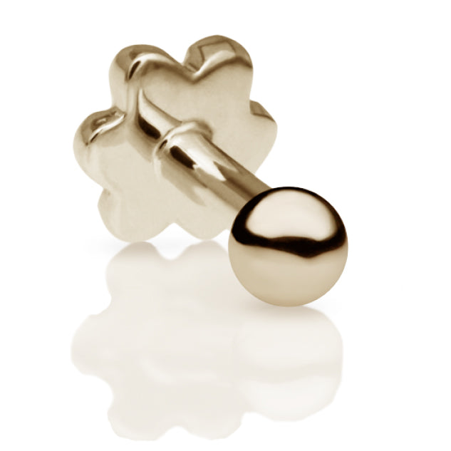 2mm Ball Earring by Maria Tash in 14K Yellow Gold. Flat Stud. - Earring. Navel Rings Australia.