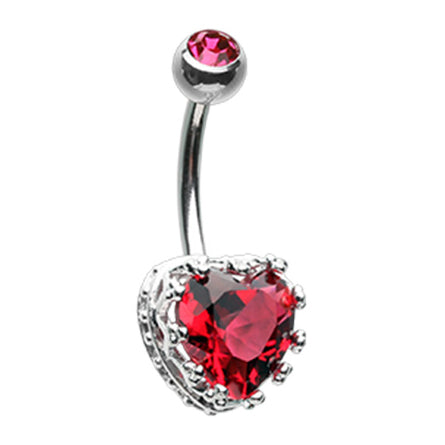 Red Vintage élaborer Heart Belly Bar