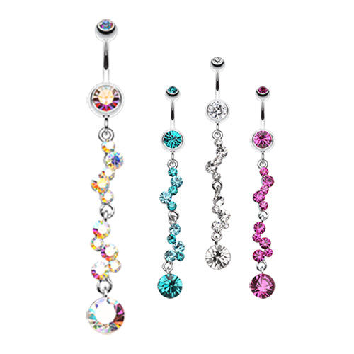 Kinked Kiki Belly Dangle - Dangling Belly Ring. Navel Rings Australia.