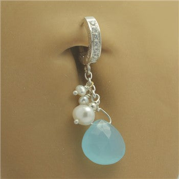 TummyToys® Patented Clasp. Quality Belly Rings. TummyToys® Caribian Pearl Navel Jewellery