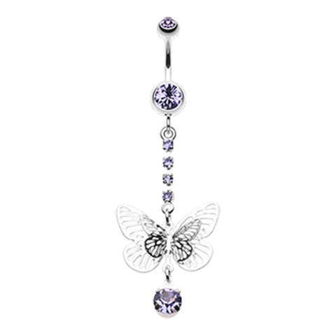 Tanzanite Whispering Spring Butterfly Belly Bar