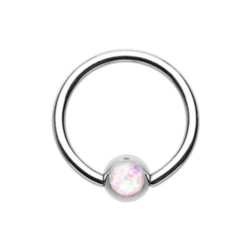 Captive Belly Ring. Cute Belly Rings. Classique Opal Captive Belly Rings
